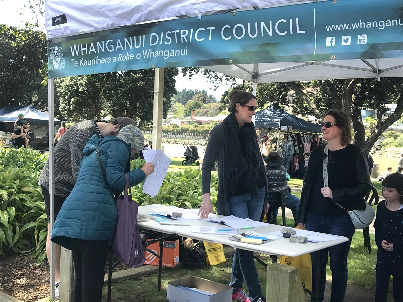 Council officers engaging at the market